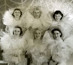 A group of showgirls from George Whites Scandals c.1935