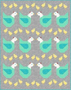 This one& for you, Carol! I ran into Carol at the Quilt Show and she requested a chicken pattern, so I promised her . Cute Quilts, Lap Quilts, Quilt Baby, Mini Quilts, Quilt Block Patterns, Quilt Blocks, Chicken Quilt, Chicken Pattern, The Quilt Show