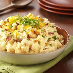 Loaded Mashed Potatoes Recipe from Taste of Home - shared by Ann Nolte of Tampa, Florida