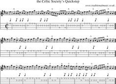 Sheet-music score, Chords and Mandolin Tabs for The Celtic Societys Quickstep Music Tabs, Music Chords, Banjo, Ukulele, Violin, Tin Whistle, Celtic Music, Music Score, Love Languages