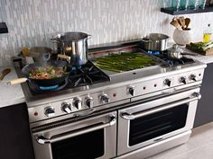 """60"""" Capital Culinarian gas range. We'd get ours with the 24"""" grill and a removable flat-top though."""
