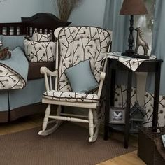 ... cushion covers, Wooden rocking chairs and Rocking chair cushions