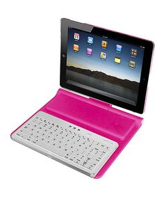 Loving this Pink Deluxe Bluetooth 3.0 Workstation for iPad 2 on #zulily! #zulilyfinds