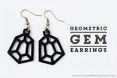 DIY Geometric Gem Earrings Tutorial