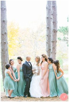 Maria and Reinhard's gorgeous whimsical pretty pink and sea green fall garden wedding ceremony and reception at Madsen's Greenhouse in Newmarket Greenhouse Wedding, Garden Wedding, Fall Wedding, Wedding Ceremony, Reception, Bridesmaid Dresses, Wedding Dresses, Pretty In Pink, Birch