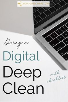 This post is your guide to do a digital deep-clean on your smartphone, tablet, email, social media, and learn how to effectively clean your PC or Mac. Let's dive in! House Cleaning Tips, Deep Cleaning, Spring Cleaning, Cleaning Hacks, Minimalism Living, Ipad Storage, Eco Friendly Cleaning Products, Computer Service, Digital Detox