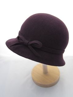 Purple Wool Felt Cloche Hat. £35.00, via Etsy.