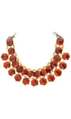 Nanni semiprecious red stone collar -  #accessories