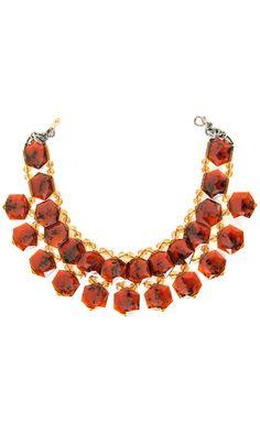 Nanni semiprecious red stone collar -  #accessories