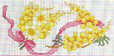 Schema punto croce Fiori Mimosa