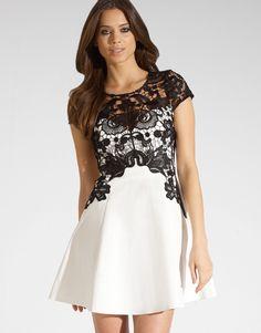 Vestry black lace dress
