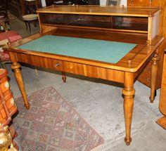 Desk, historism, walnut, 1880 - 110 cm x 142 cm x 86 cm (h x w x d), www. Desks, Antique Furniture, Antiques, Table, Home Decor, Tables, Antiquities, Homemade Home Decor, Decoration Home