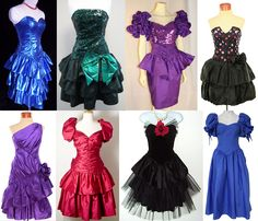 Either buy a lovely selection of 80's prom dresses for guests to wear on the night or ask them to buy & wear their own.