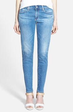Free shipping and returns on AG 'The Nikki' Relaxed Skinny Jeans (15 Year Saltwater) at Nordstrom.com. Mid-rise skinny jeans cut from resilient Japanese denim are styled for a relaxed fit and finished with rollable cuffs. Prominent whiskering and a fade through the knees accentuate the laid-back vibe.