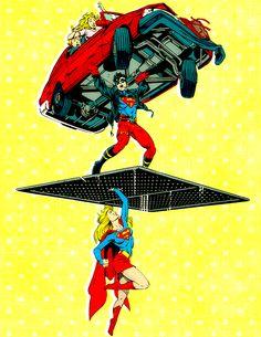 """parkwests: """"Boy Meets Girl!"""" (Adventures of Superman #502 by Karl Kesel, Tom Grummett, and Doug Hazlewood, 1993)"""