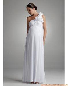 modisches Brautkleid  aus Chiffon  A-Linie
