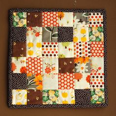 Patchwork - kinda makes me wish I knew how to use a sewing machine!