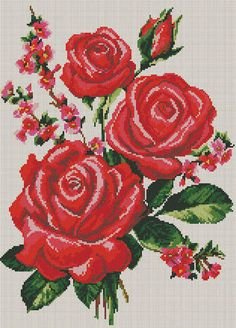 This Pin was discovered by Jsj Embroidery Patterns Free, Beaded Embroidery, Cross Stitch Embroidery, Cross Stitch Patterns, Beaded Cross Stitch, Cross Stitch Rose, Cross Stitch Flowers, Crochet Crafts, Yarn Crafts