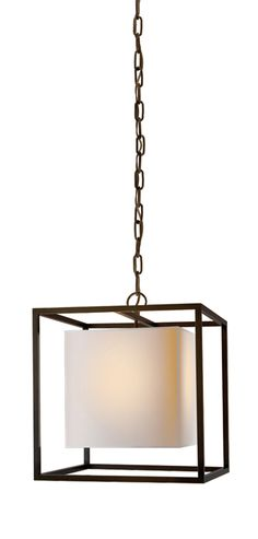 SMALL CAGED LANTERN WITH PAPER SHADE | circa lighting | $735