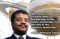 We are all connected.  This man is amazing to listen to.  He speaks in a way that you learn something but also doesn't talk over the heads of those of us who are not as well versed!