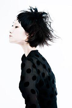 KHA 2013-nothing beats black polka dots on sheer material...