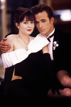 Brenda and Dylan at the Spring Dance, Beverly Hills 90210 #tvshow #90s #beverlyhills90210
