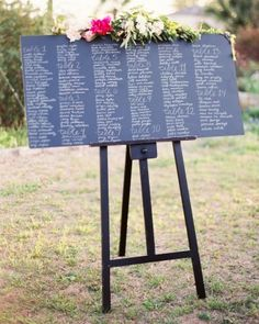 "See the ""The Seating Chart"" in our Paige and Chris's Garden Party Wedding in Austin gallery"