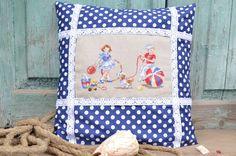 Рукодельная сказка Анны Гречиха: Подушка « Petits moussaillons » («Маленькие морячки»).