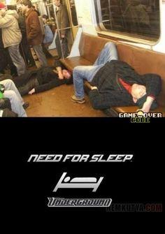 Need For Sleep  #gameovercode #gamers #needforsleep
