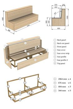 Diy Outdoor Furniture, Furniture Projects, Diy Furniture, Laminate Furniture, Furniture Buyers, Cardboard Furniture, Furniture Design, Beginner Woodworking Projects, Woodworking Bench