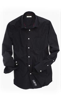 07b63a63604f Chemise Noire Mode Homme Popeline 100% coton. Style   Uni. Tendance  Printemps Automne