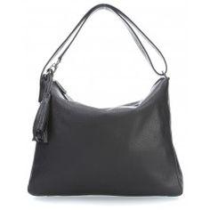 wardow.com - #bag #trend #blackandwhite #Jost Vika Beuteltasche genarbtes Rindsleder schwarz