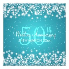 Wedding Anniversary Party Winter Sparkle Blue Custom Invite you will get best price offer lowest prices or diccount couponeHow to          Wedding Anniversary Party Winter Sparkle Blue Custom Invite lowest price Fast Shipping and save your money Now!!...
