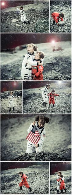 To the Moon: A simple DIY guide for an Astronaut cosplay photo shoot for kids with costume, prop and location ideas from findingstorybookland.com