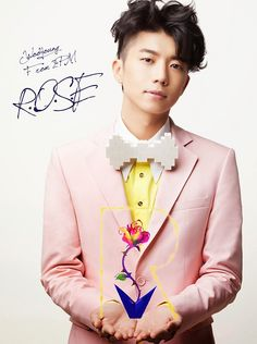 "Wooyoung unveils teaser photo and album details for Japanese single, ""R.O.S.E"" Jang Wooyoung, Taecyeon, Japanese Singles, Jacket Images, Woo Young, Single Rose, Jay Park, E Type, Album Releases"
