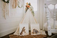 This set of two wall prints will be well suited for your modern gender neutral nursery. The giraffe and zebra are in a brownish tone to match the earthy boho tones. Baby Girl Nursery Decor, Floral Nursery, Floral Wall Art, Nursery Room Decor, Nursery Wall Art, Wall Art Decor, Christian Wall Art, Animal Nursery, Wall Art Prints