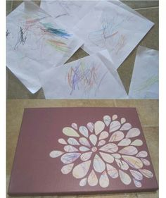 Toddler scribbles turned into art
