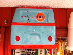 Parte trasera de vw bus Decorativa reloj de pared Fibr de vidrio $1900 Esmenjaud Retro