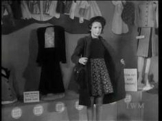 """Make Do And Mend,"" a short film from World War II Britain showing women some examples of how to style their wardrobe during clothing rationing by making new clothes out of old ones."