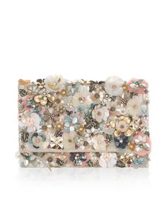 Glimmering embellishments in the form of sequins, beads and crystal gems lend our Katrina clutch bag an occasion-ready feel. In a fold-over silhouette, this ...