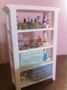 Dollhouse Miniature Bathroom Shelves Seashells Towels Perfume PieraArt 1:12