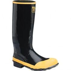 24009043 LaCrosse Men's Economy Knee Safety Boots - Black www.bootbay.com