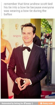 Just a public service announcement: please pause a moment to remember how fantastic Andrew Scott is. Thank you. That is all.<< Thank you.