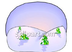Clipart.com Closeup   Royalty-Free Image of landscape,snow,trees,winter