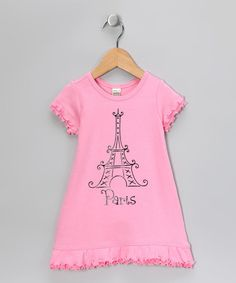 Another great find on Bourbon Street Boutique Pink 'Paris' Dress - Infant, Toddler & Girls by Bourbon Street Boutique Tween Fashion, Fashion Sewing, Paris Fashion, Paris Outfits, Paris Dresses, Cute Little Girls Outfits, Girly Girls, Pink Paris, Infant Toddler