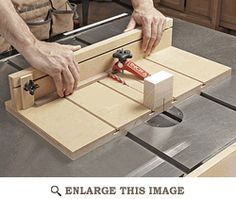 Small-parts Tablesaw Sled Woodworking Plan