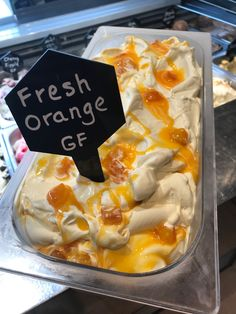 Rippled with fresh orange chunks. Artisan Ice Cream, Make Ice Cream, Food Porn, Treats, Seasons, Fresh, Cakes, Orange, Recipes
