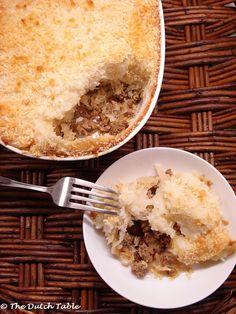 Zuurkoolschotel (Dutch Sauerkraut Casserole)