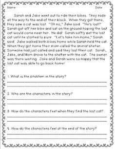 worksheets short stories for grade 3 with question opossumsoft worksheets and printables. Black Bedroom Furniture Sets. Home Design Ideas
