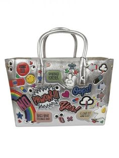 ANYA HINDMARCH Anya Hindmarch Ebury All-over Stickers Tote. #anyahindmarch #bags #hand bags #tote #